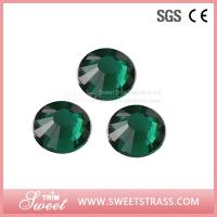 Buy cheap Emerald Sawarovski rhinestones Sparkle Dance Sport Fashion Strass Women Clothing Accessories Garment Trims Studs Jewelry from wholesalers
