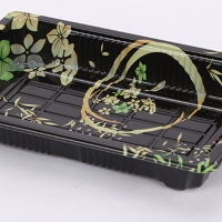 Buy cheap Food Grade PS Disposable Sushi Trays With Anti Fog Lids from wholesalers
