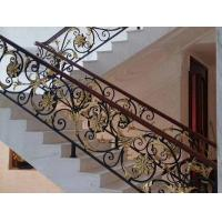 Buy cheap Hot Dipped Galvanized Exterior Wrought Iron Stair Railings , Cast Iron Handrail from wholesalers