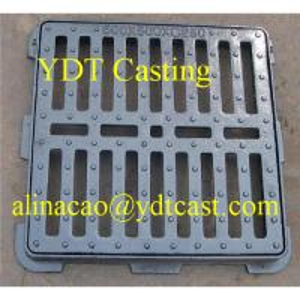 China Ductile Iron driveway drainage grating; Black bitumenous; Ductile iron casting on sale