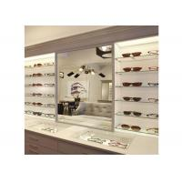 Buy cheap Sunglasses Shop Wall Mounted Display Cabinets With Clear Termpered Glass Shelf from wholesalers