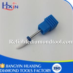 Buy cheap Medium Ceramic Nail Drill Bit White Ceramic Burr For Nail Shank Head 2.35mm 6.5mm product