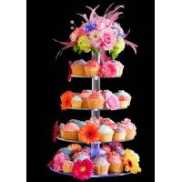 Buy cheap 7-Tier Bakery clear acrylic display case , 5mm Cupcake Display Stand Rack from wholesalers
