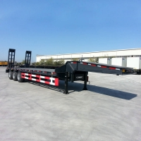 Buy cheap Flat Deck Hydraulic 100Ton Low Loader Semi Trailer from wholesalers