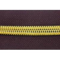 Buy cheap Long Chain  5#  8# Auto Lock Close End Open End Nylon Tape Gold Teeth zip Zipper Roll from wholesalers
