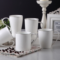 Buy cheap Hotel Office 10oz Straight Eco Thin Fine Porcelain Coffee Mugs from wholesalers