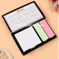Buy cheap PU BOX Combined sticky note and calendar/acrylic sticky notes holder,fashion sticky note tabletop holder for office from wholesalers