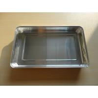 Buy cheap Aluminum Disposable Tin Foil Dishes For Airline Catering Serving Rectangle Shape from wholesalers