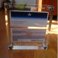 Buy cheap Transparent / Black / White Acrylic Photo Frames With Color UV Printed from wholesalers
