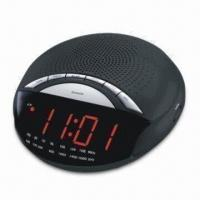 China AM/FM Clock Radio with Dual Alarm, Dimmer Control and Electronic Volume Up/Down Control on sale