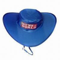 Buy cheap Promotional foldable hat, made of 190T nylon + steel ring from wholesalers
