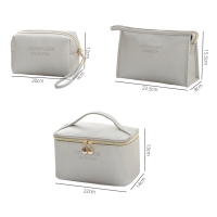 Buy cheap Simple Style Zipper PU Cosmetic Bag Three Piece Set from wholesalers