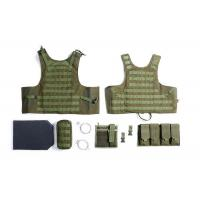 Buy cheap Military Tactical Vest With Two Pistol Pouch , Tactical Vest Carrier For Law Enforcement from wholesalers