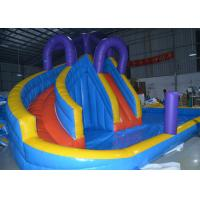Buy cheap 0.55mm PVC Kids Inflatable Water Slide Pool / Jumping Bouncer Castle With Air Blower from wholesalers