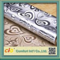 Buy cheap Home decoration Embossed Plastic PVC Transparent Film Flora Pattern Waterproof product