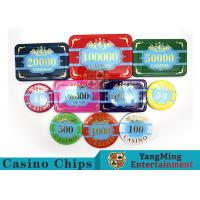 Custom Acrylic Casino Poker Chip Set , New Style Poker Set With Numbered Chips