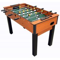 Buy cheap 4FT Deluxe Football Table with telescopic play rods wood color PVC finish product