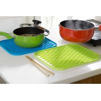Buy cheap Rectangle Anti-slip Silicone Pod Mat , Durable Multifuction Kettle Pad 217 x 160 x 6mm from wholesalers