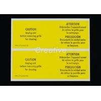 Buy cheap Package White Vinyl Die Cut Bumper Sticker Labels For Electronic Products from wholesalers