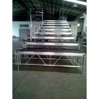 Buy cheap Standing Adjustable Aluminum Choir Stage Foldaway For Church Singing from wholesalers