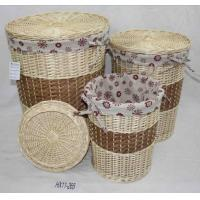 Buy cheap manufacturer wicker baskets set of 4 from wholesalers