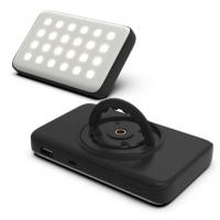 Buy cheap LED rechargeable camping light with power bank function black color 10000mAh from wholesalers