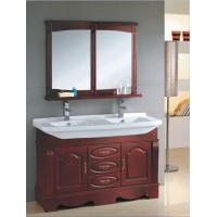 Red wood color Ceramic bathroom vanity traditional style 135 X 48 X 85 / cm