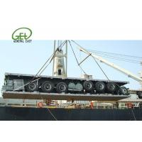 Buy cheap 60T Flatbed Semi Trailer Long Cargos 60000 Kgs Max Payload Custom Color from wholesalers