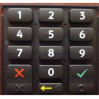 Buy cheap High Strength Elastic Silicone Rubber Keypad With Backlight Effect , Portable from wholesalers