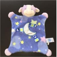 China GUC Taggies Mary Meyer Kids Plush Dolls Cow Security Blanket Moon Blue Purple Design on sale