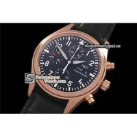 Buy cheap Perfect Replica IWC Pilot Chrono 3717 Rose Gold Watches from wholesalers
