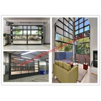 Buy cheap Aluminum Frame Rolling Door Customized Transparent Door With Tempered Glass Panel from wholesalers