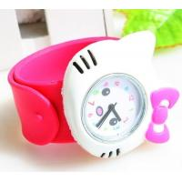 Buy cheap Classic Silicone Belt Crystal Lady Hello Kitty / Slap / Gifts Stylish Silicone Wristband Watch from wholesalers