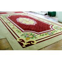 Buy cheap Square Handmade Woollen Carpet Pile Height 11mm Customized Service from wholesalers
