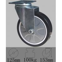 Buy cheap Plate swivel caster with PU wheel 125mmx32mm-Industrial caster wheels from wholesalers