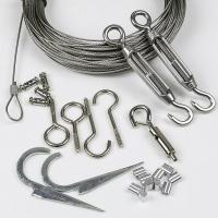 Buy cheap Outdoor Light Guide Wire 65 ft With Turnbuckle and Hook Wire Rope Tension Kits from wholesalers