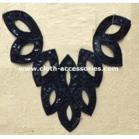 Buy cheap T - Shirt Eyelet Crochet Lace Collar Sequin Washable With Leaves Shape from wholesalers