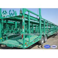 Buy cheap Double Axles Single Car Carrier Semi Trailer High Tensile Steel Q345B from wholesalers