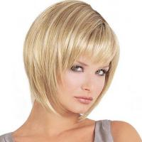 Buy cheap 8-30 Short Blonde Bob Wig , 100 Real Human Hair Extensions Chemical Free from wholesalers