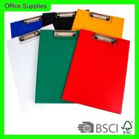 Buy cheap Double side cardboard clip file A4 size,board clip,foldable writing board product
