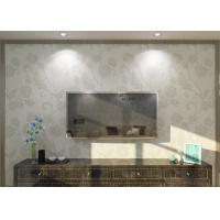 Buy cheap 0.53*10M Vinyl Embossed Floral Pattern Wallpaper , Rustic Country Wallpaper from Wholesalers