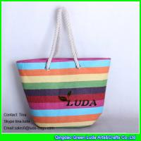 Buy cheap LUDA 2015 summer colorful straw totes paper straw new designer beach bag from wholesalers