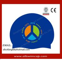 Buy cheap Adult silicone customized swimming hat/swim cap from wholesalers