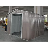 Buy cheap Colorful 8X8 Medium Apex Metal Shed , Waterproof Gable Roof Garden Shed 8 ' x 8 ' from wholesalers