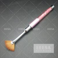 Buy cheap Fan Shape Hair Nail Art Brushes Add Powder Glitters Decorations Crystal Handle from wholesalers
