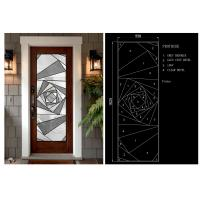 Buy cheap Brass Nickel Patina Home Decorative Panel Glass Stained Glass For Church from wholesalers
