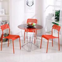 Buy cheap Living Room Round Glass Top Dining Room Tables 2 Chairs Set Home Kitchen Furniture from wholesalers