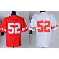 Buy cheap NFL jerseys San Francisco 49ers  52#Wilis  white&red Elite Jerseys from wholesalers