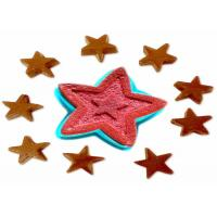 Buy cheap 9 inch Silicone Cake Molds For Baking Novelty Shapes Star Red from wholesalers