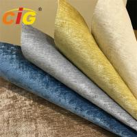 Buy cheap 350gsm Woven Plain Style 100% Polyester Chenille Furniture Fabric For Curtain product